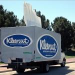 Camion Kleenex : image insolite
