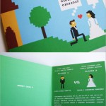 Invitation Mariage Geeks  8 Bits (Photo Insolite)
