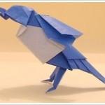 Twitter En Origami Papier